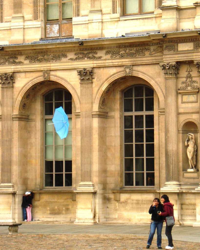 Baby just let it fly! Louvre, Paris. Circa 2007- photo by Ishita Sharma